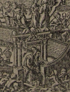 Photo of woodcut on title-page of C. 2. 9.