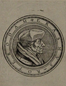 Picture of small woodcut portrait of Erasmus in C. 2. 9.