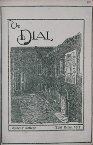 Lent Term 1913, The Dial