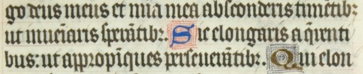 MS Horne 25 An example of Late Medieval Littera Textualis Quadrata, where legibility is sacrificed for style