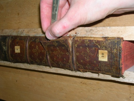Lifting the original spine panels