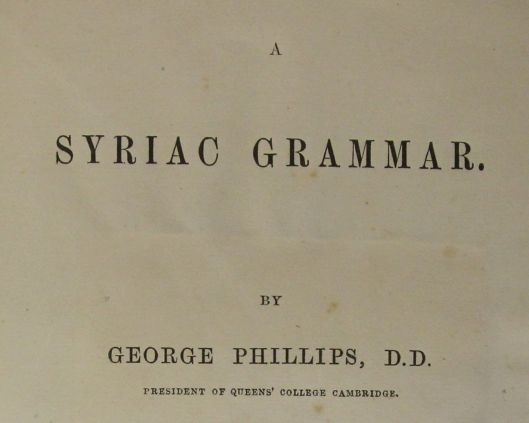 Phillips' Syriac Grammar